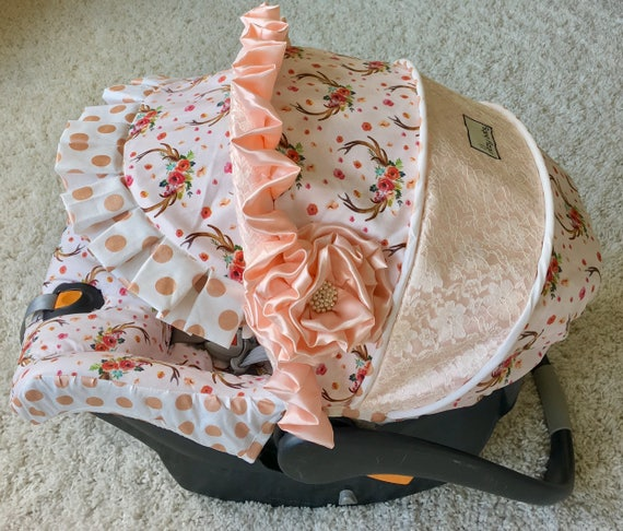 Lace Replacement Car Seat Cover 4 PC Set Baby