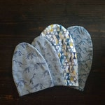 Toddler slouchy beanie, reversible