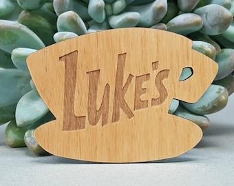 Luke's Diner Fridge Magnet - Gilmore Girls - Laser Engraved on Alder Wood - Refrigerator Magnet