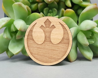 Star Wars Rebel Alliance Magnet - Laser Engraved Alder Wood - Fridge Magnet
