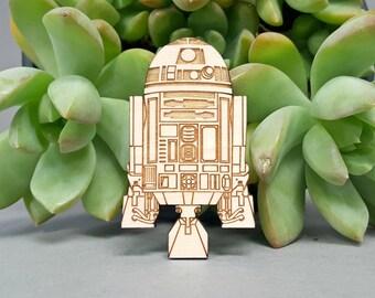 Star Wars R2-D2 Magnet - Laser Engraved Maple Wood - Fridge Magnet - R2D2