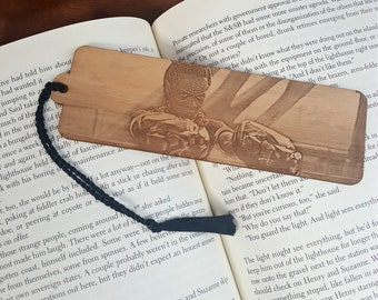 8b664f605d Marvel Black Panther Bookmark with Tassel - Laser Engraved Wood - Princess  Shuri of Wakanda