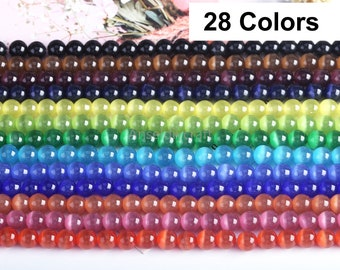 50 pearl cat eye 8mm eye color mix glass beaded beaded blend jewelry design jewelry making