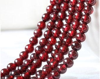 B8 AAA Natural Red Garnet Beads,Rhodolite Bead strands,January Birthstone beads,Round Red Garnet Gemstone Beads,3 4 5 6 7mm,semi precious