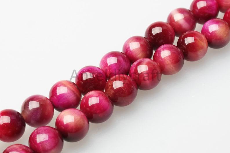 "6mm//8mm rose red round gemstone loose beads 14 /"""