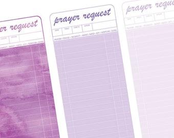 Queen Purple | Prayer Request Cards Printable