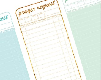 Reveal Your Teal | Prayer Request Cards Printable