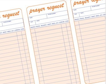 Detailed Prayer Request Cards