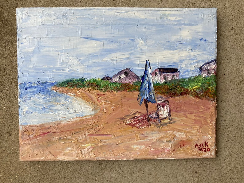 Howes Street Beach Cape Cod Art Oil Painting nature beach image 0