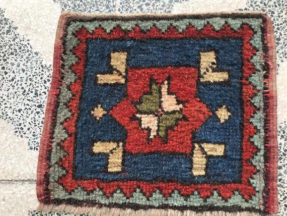 small carpet oushak carpet Turkish small rug vintage small rug Brown gift Small door mat Rug Oushak small Rug small bohemian rug