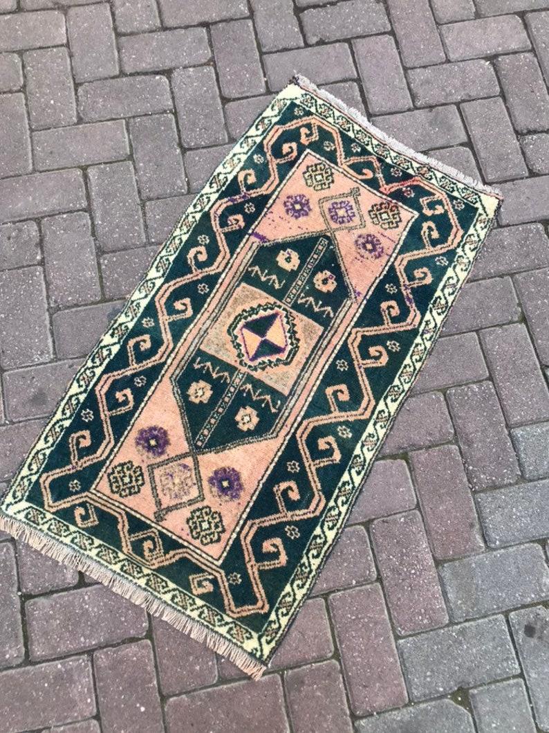 Door Mat Rug,Small Rug,Home Rug,Floor Rug,Turkish Rug,Oushak Small Rug,Vintage Rug,Decorative Small Rug,Oushak Mat Rug,Handmade Small Rug