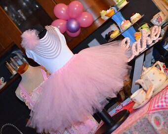 Girls Tutu Skirt.  ribbon edge tutu skirt. party skirt, tulle skirt lined circle skirt, net skirt, birthday skirt. knotted tutu skirt