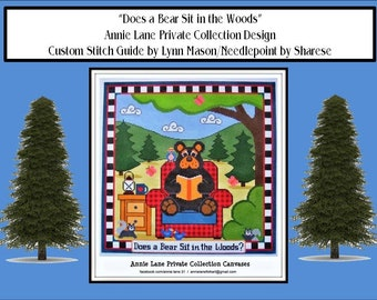 Does a Bear Sit in the Woods for Annie Lane PC Stitch Guide