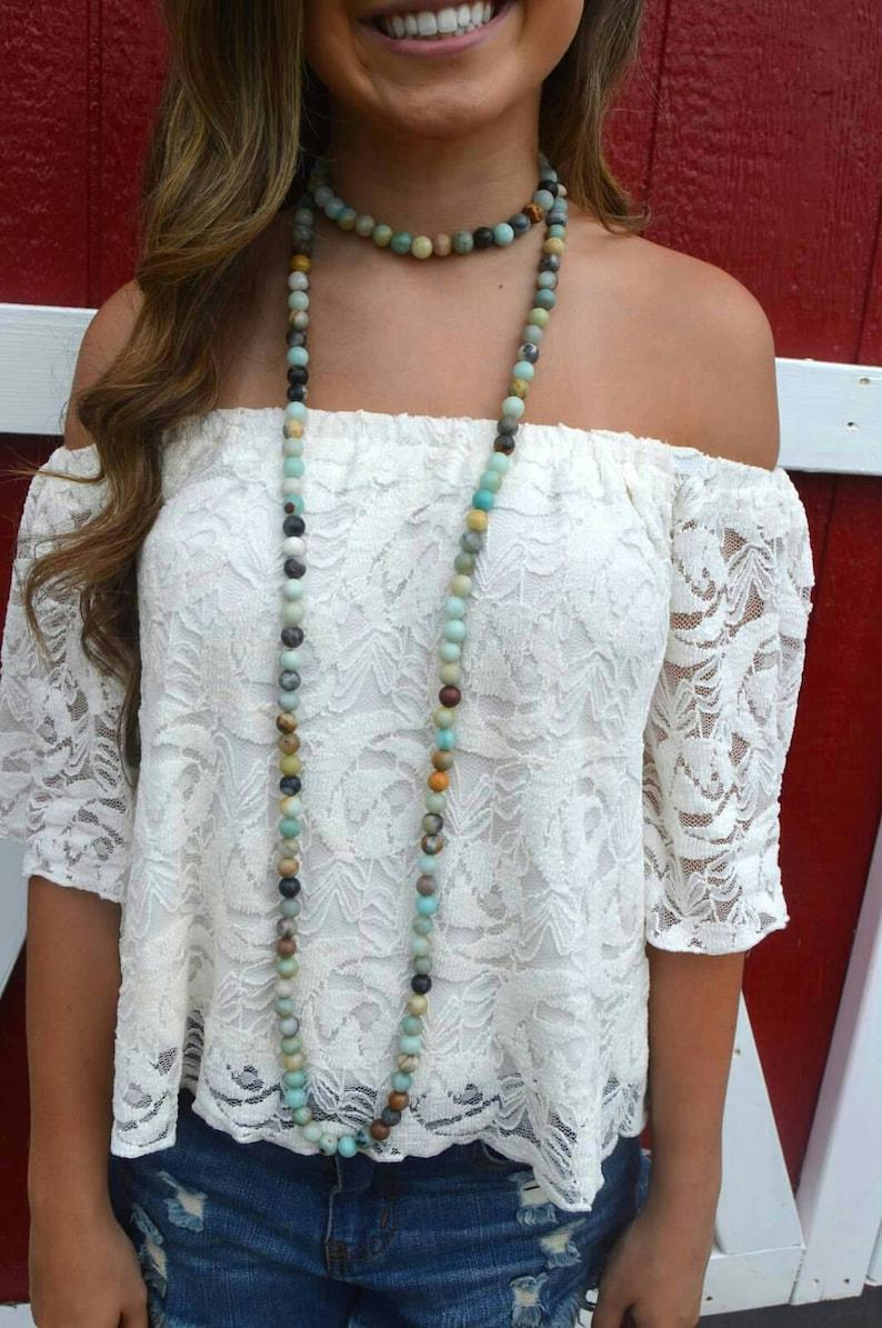 Jillian Blake Wrap Necklace