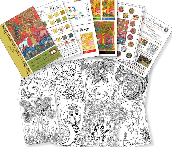 PRINTED TRACE/COLORING Book: The Tree of Life more than a   Etsy