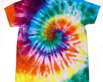 254e34748aa3 Tie Dye Shirt Spiral Handmade Tye Die Cotton Adult Youth Toddler 2T 3T 4T S  M L XL 2XL 3XL Short Sleeve