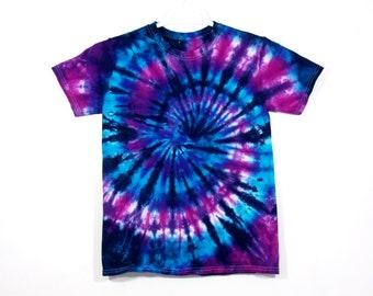 Tie Dye Spiral T Shirt Cotton Short Sleeve 5d7ec8a0ad6