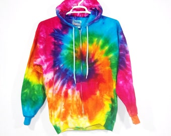 afc36e3d8 Tie Dye Hoodie Zipper Hoodie Pullover Hoodless Sweater Sweatshirt Options  Spiral S M L XL 2XL 3XL Heavyweight