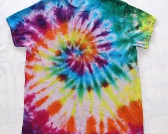 357f4f6507d3 Tie Dye Shirt Spiral Handmade Tye Die Cotton Adult Youth Toddler 2T 3T 4T S  M L XL 2XL 3XL Short Sleeve