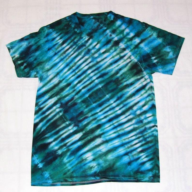 9afb9cd01c13 Tie Dye Accordion Fold Shirt Cotton T-Shirt Short Sleeve