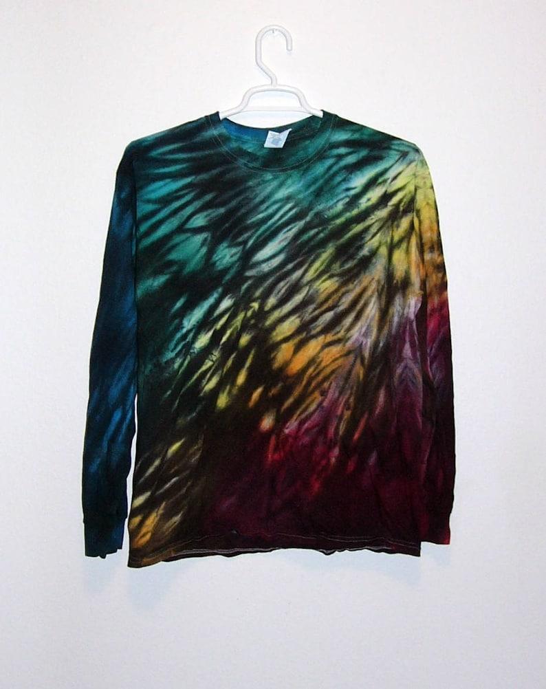 0af546fcd6126 Tie Dye Shibori Long Sleeve T Shirt Adult Youth Sizes