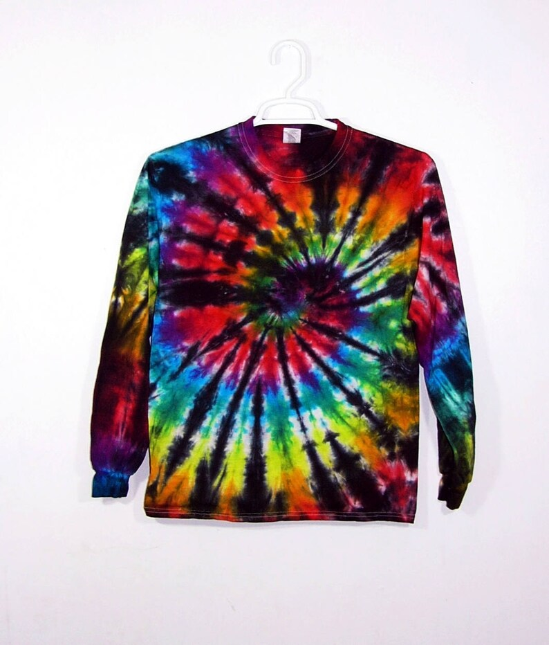 866c99038ed91 Tie Dye Spiral Long Sleeve T Shirt Adult Youth Sizes