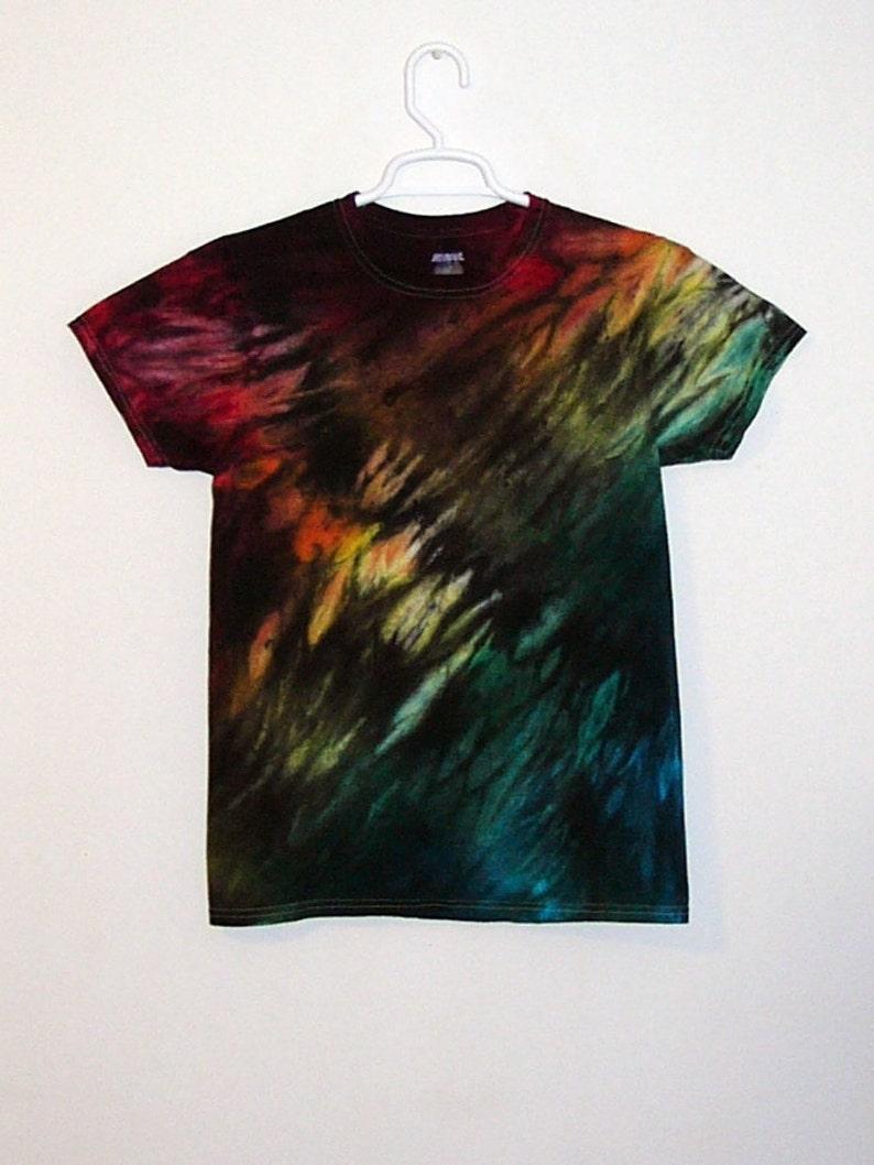 Tie Dye T Shirt Spiral Youth Handmade Tye Die 100 Cotton S M L XL