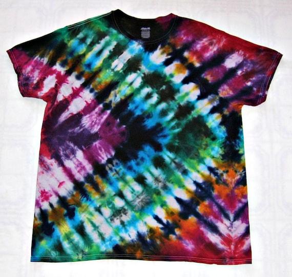 f788450def1a Tie Dye Shirt Accordion Fold Handmade Tye Die Cotton Adult