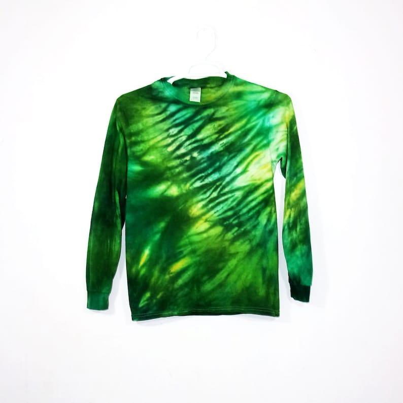 5cdceb50631a0 Tie Dye Long Sleeve T Shirt Adult Youth Sizes Shibori