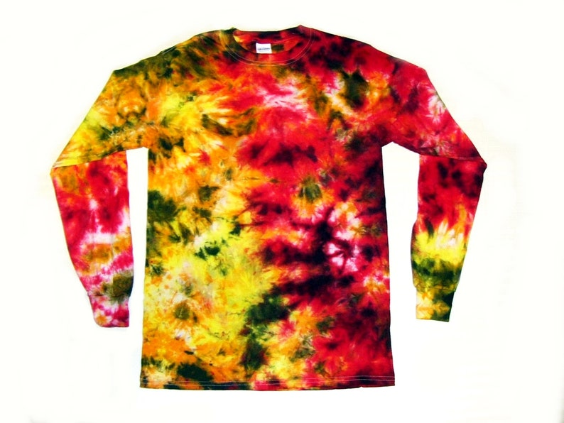 a8e5edf02f650 Adult Youth Long Sleeve Crinkle Tie Dye T-Shirt