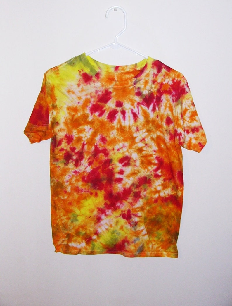 Tie Dye T-Shirts XL Youth Crinkle Cotton Short Sleeve Premade