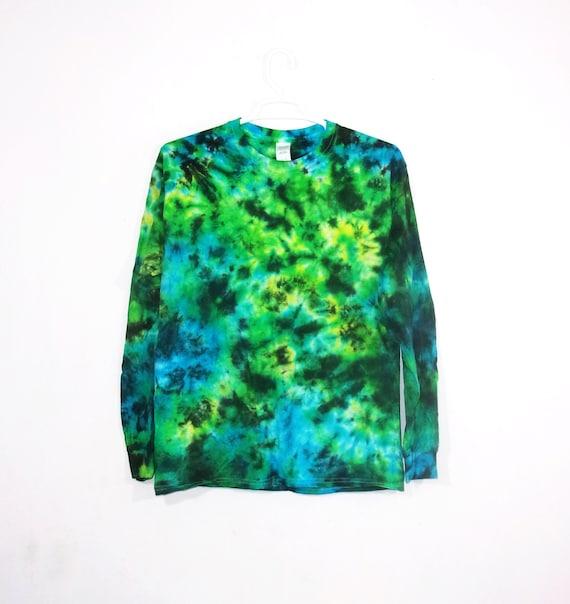 4ba159b989e74 Tie Dye T Shirt Long Sleeve Crinkle Adult Youth Sizes