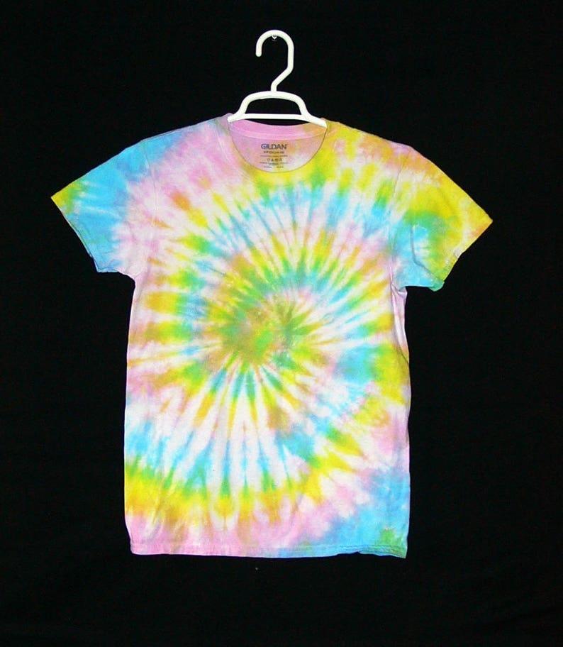 7148ca2deadf Tie Dye Shirt Spiral Handmade Tye Die Cotton Adult Youth