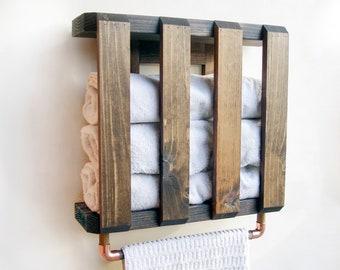 Bathroom Shelf Organizer, Towel Holder Wall, Storage For Bathroom
