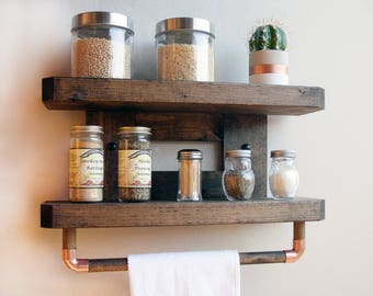 Rustic Kitchen Shelf, Rustic Wood Kitchen Shelves