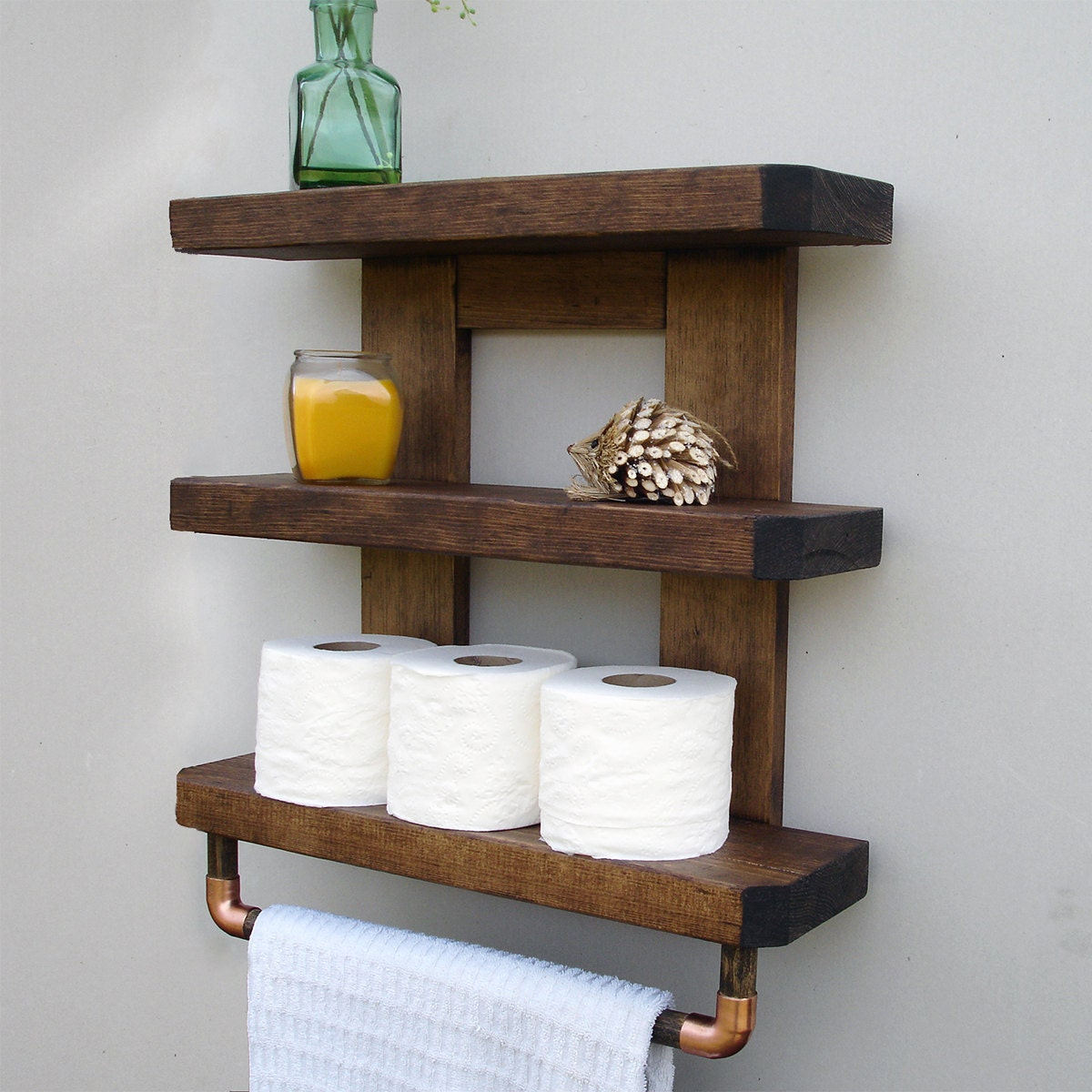 rustic bathroom shelves etsy rh etsy com wooden bathroom shelves ikea wooden bathroom shelves lowes