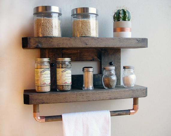 Kitchen Shelf Unit , Spice Rack Wall Mount