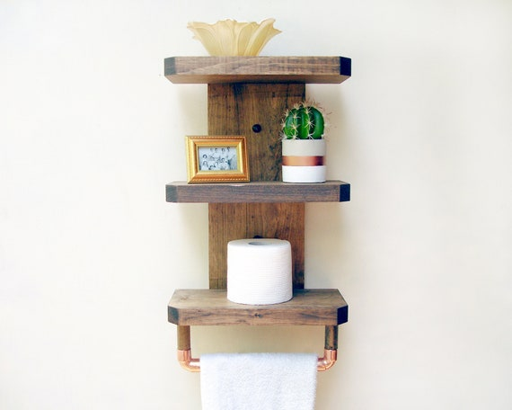 Admirable Wood Shelves Bathroom Wooden Bathroom Towel Rack Bathroom Organization Bathroom Shelf With Storage Bathroom Towel Holder Wood Download Free Architecture Designs Osuribritishbridgeorg