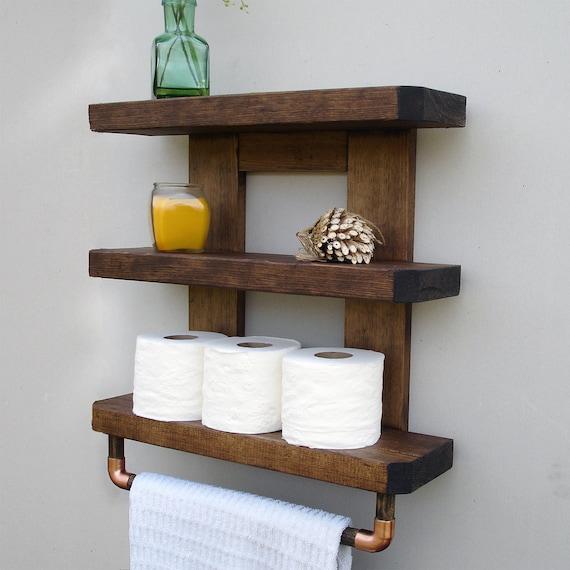 Wood Bathroom Shelves | Bathroom Shelf Bathroom Shelves Wood Bathroom Shelf Rustic Wood Shelf