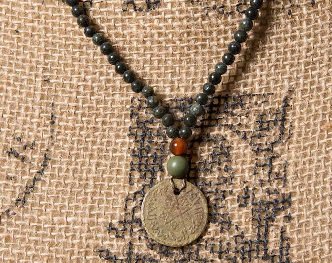 Vintage Moroccan coin boho style necklace