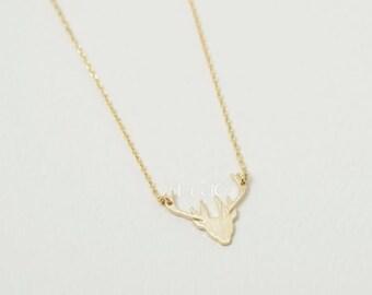 Deer Antler Deer Necklace