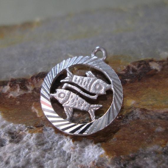 Esteruna Pisces Fish Zodiac 6.8g Sterling Silver Pendant