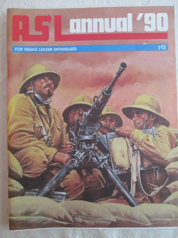 Asl Advanced Squad Leader Annual 90 Avalon Hill War Game 19 | Etsy