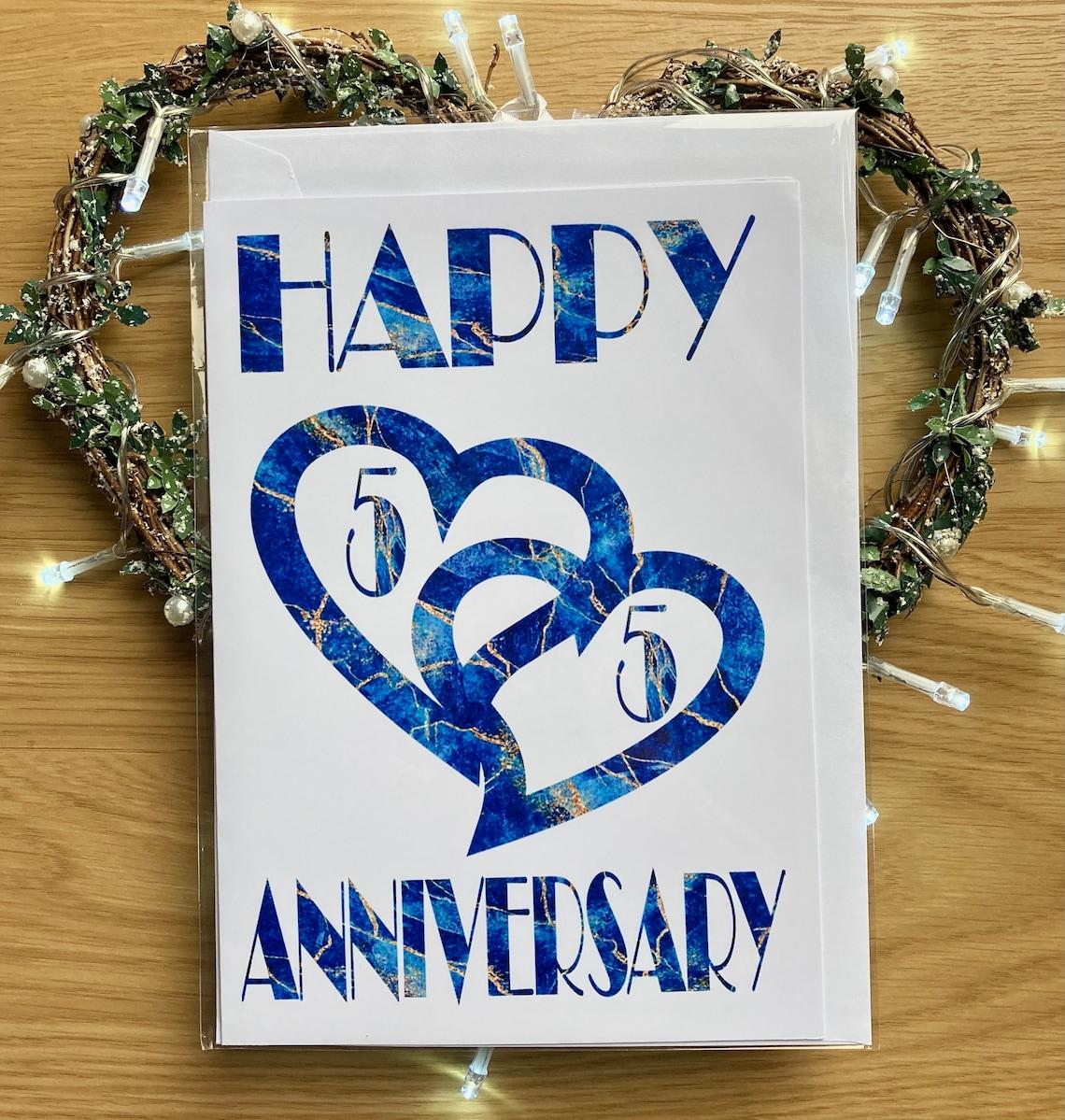 55. Hochzeit Jahrestagskarte Marmor Effekt Hochzeitstag 55