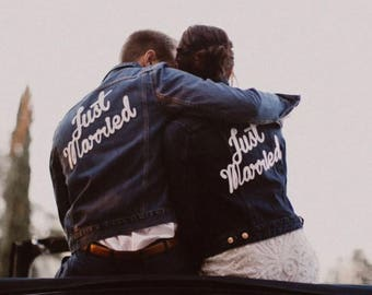 Just Married Patch / Wedding Couple Just Married / Just Married Jacket Patch