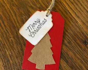 10 Piece Christmas Gift Tag Set // Scrapbook // Junk Journal Tuck Ins // Empherma // Cards //