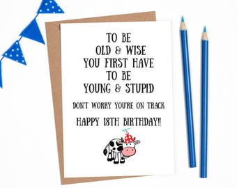 18 Birthday Card 18th Funny Personalised