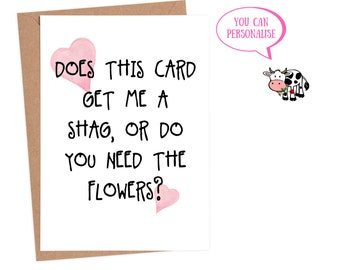 Dirty Cards For Him Sexy Anniversary Card Funny Rude Birthday Boyfriend Husband Custom