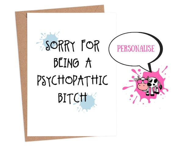 Funny sorry card, sorry card, apology card, funny greeting cards  inappropriate cards, funny card for boyfriend, banter cards, sarcastic card