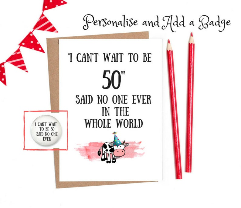 50th Birthday Card Funny Cards